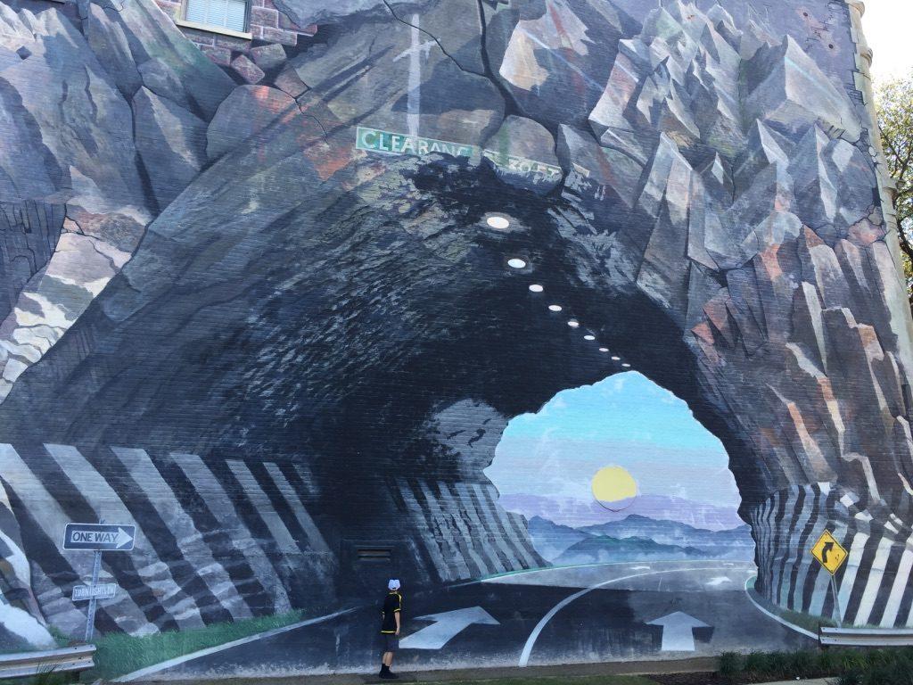 road mural